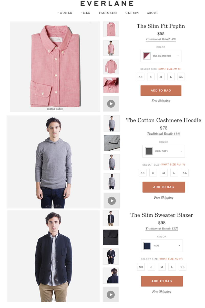 Everlane's images are consistently awesome