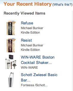 Amazon's your recent history feature