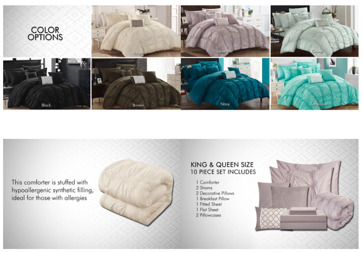 Chic Home Walmart Enhanced Content Screenshot Salsify Home and Garden Brands