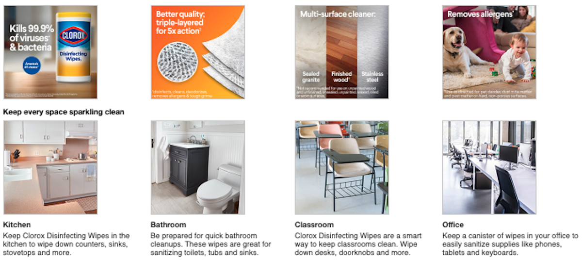 Clorox Enhanced Content Product Display Page Target Example Salsify