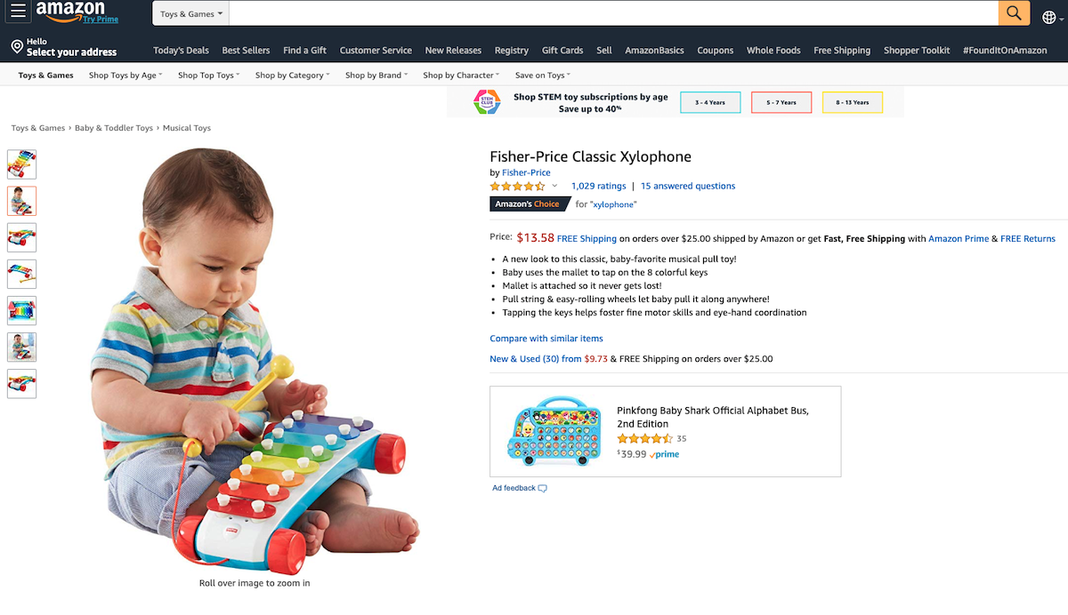 Fisher-Price Classic Xylophone Salsify Toy and Baby Brand Innovation