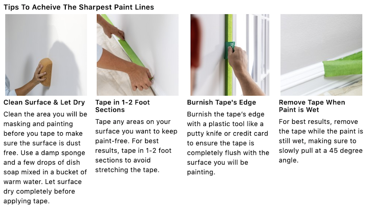 FrogTape Tips to Achieve Sharp Paint Lines Rich Media Salsify PDP Examples