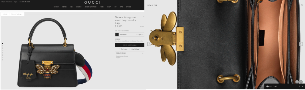Gucci Product Page