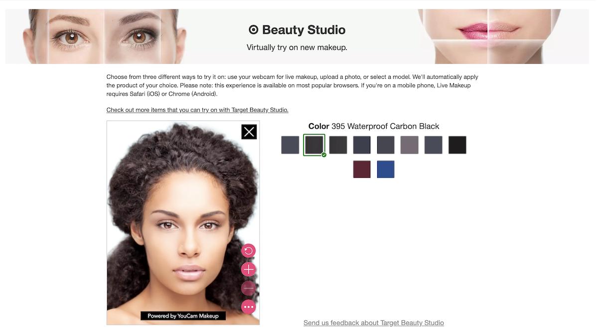 L'Oréal Paris Target Beauty Studio Screenshot Salsify Beauty Brands