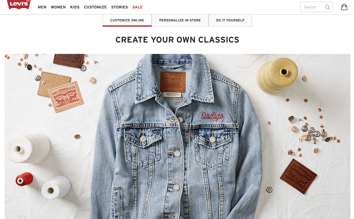 Levis Custom Online Salsify D2C Apparel Brands