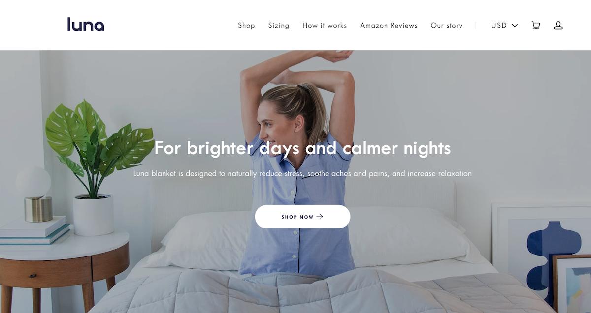 Luna Wellness Website Screenshot Salsify Home and Garden Brands