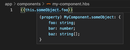 screenshot showing component property type on hover