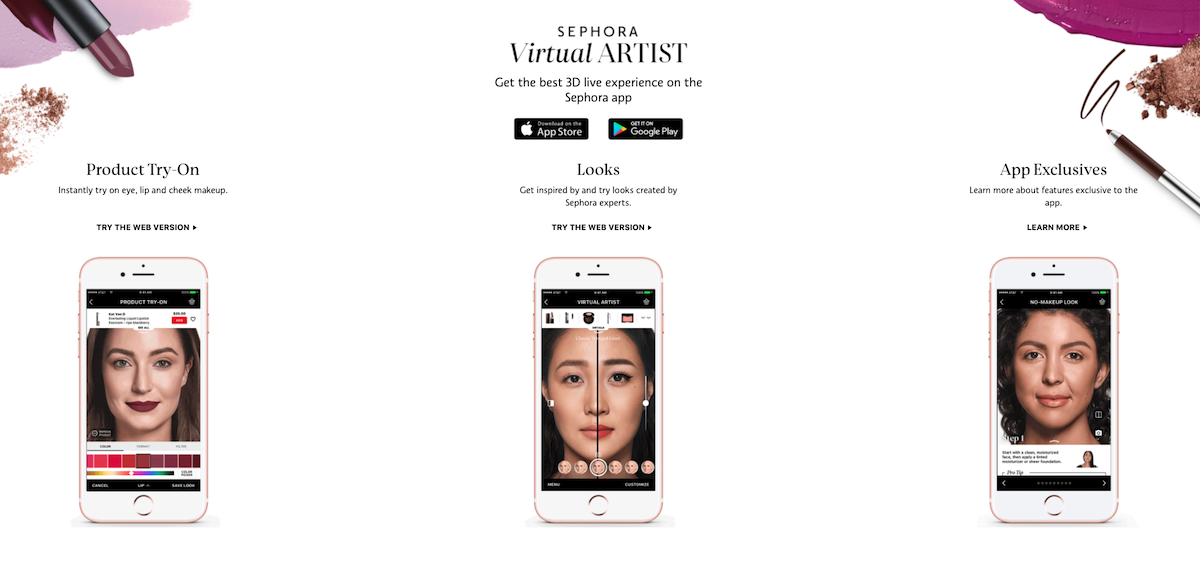 Sephora Virtual Artist Screenshot Salsify Beauty Brands Tips