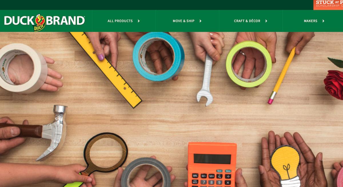 ShurTech Duck Tape Website Screenshot Salsify Home and Garden Brands