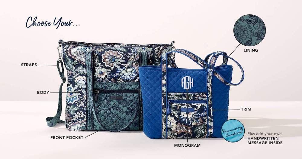 Vera Bradley Custom Products Example D2C Website