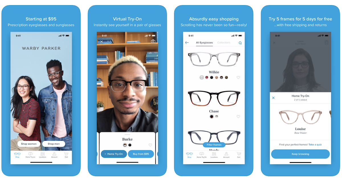 Warby Parker Virtual Try On Salsify D2C Apparel Brands