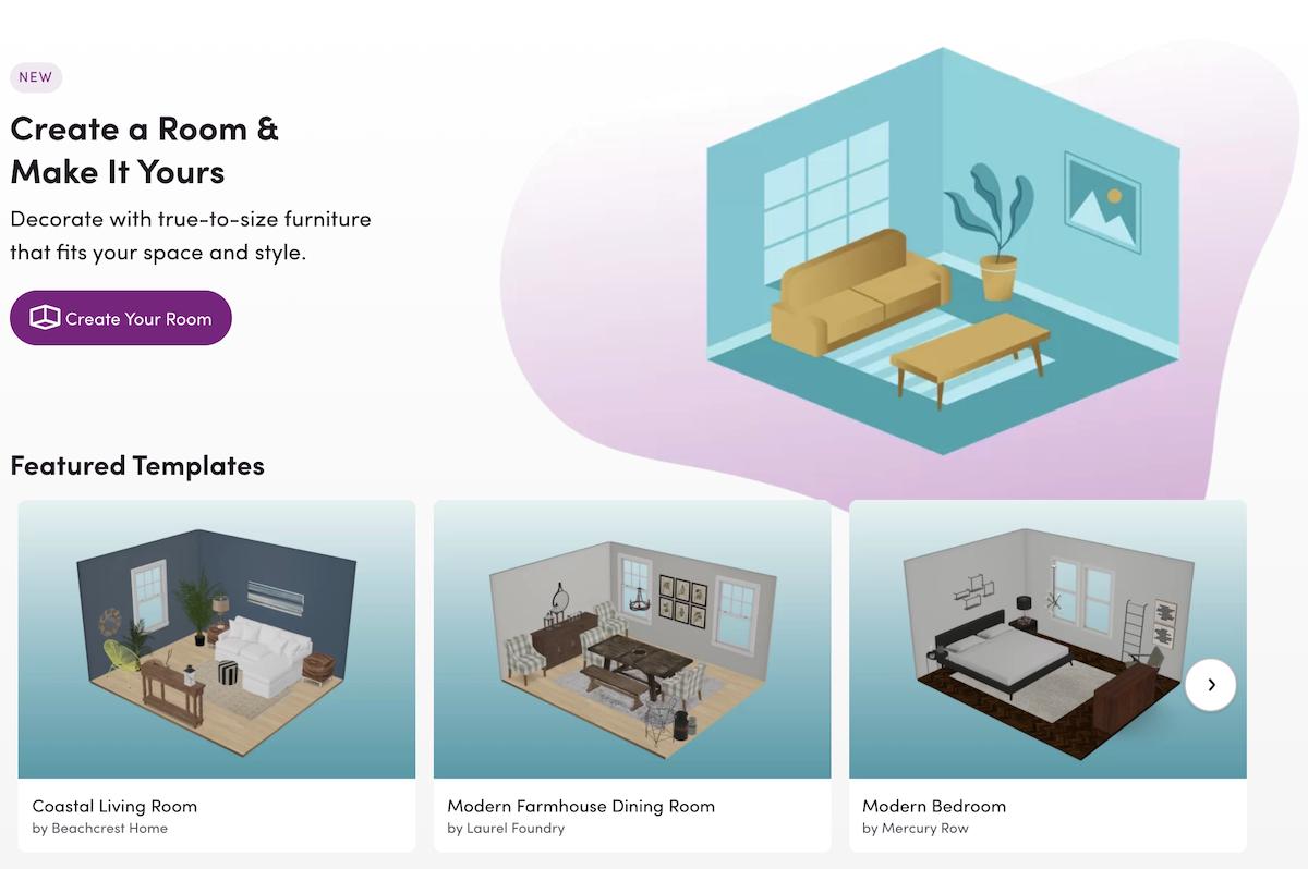 Wayfair Room Planner Screenshot Salsify Home and Garden Brands Experience Online