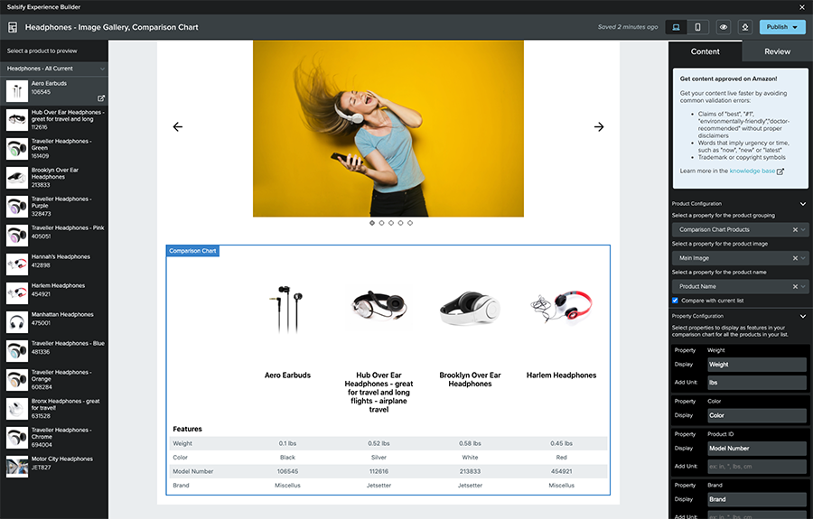 Salsify's Experience Builder for enhanced content