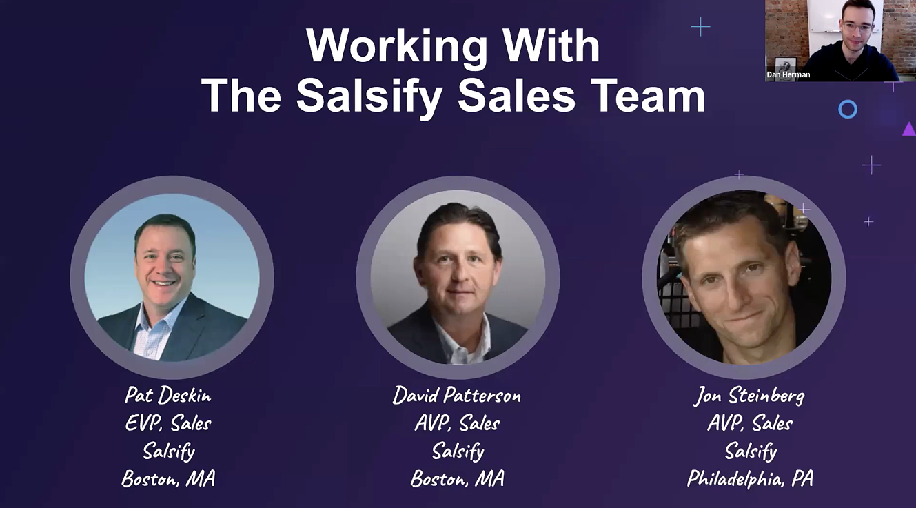 Working with the Salsify Sales Team