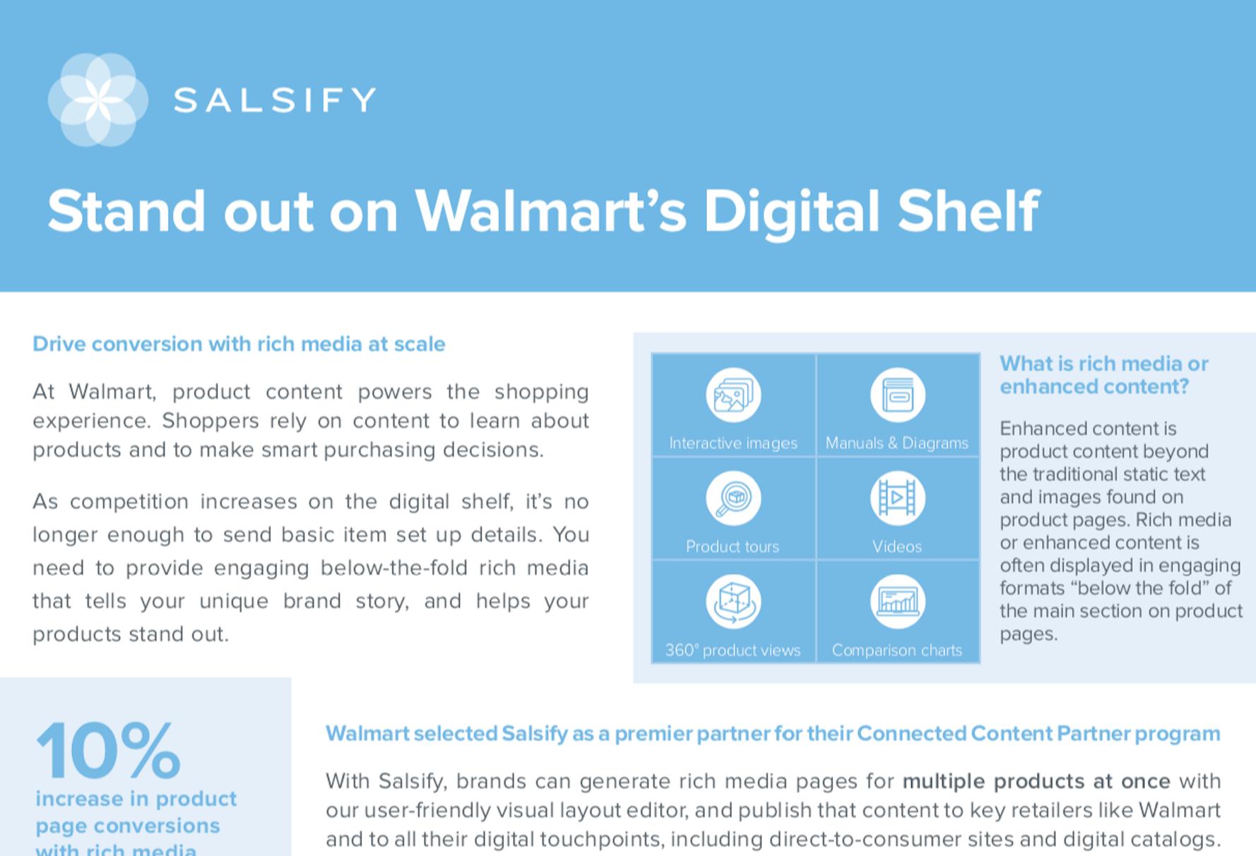 stand out on walmart's digital shelf